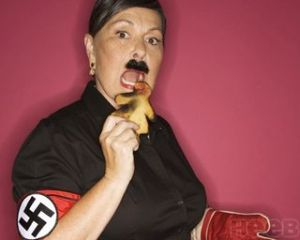 "(From Roseanne's ""funny"" Holocaust photo shoot.)"