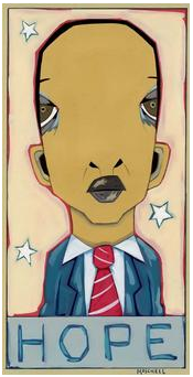 Creepy Obama Poster Alien