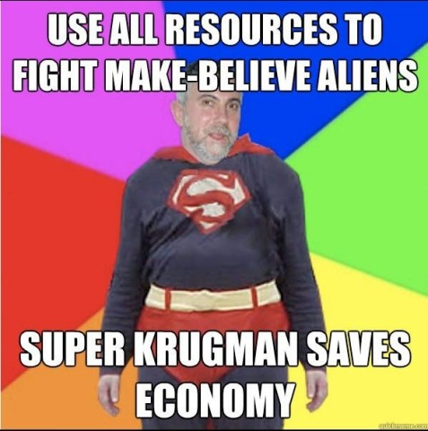 Use all resources to fight make-believe aliens