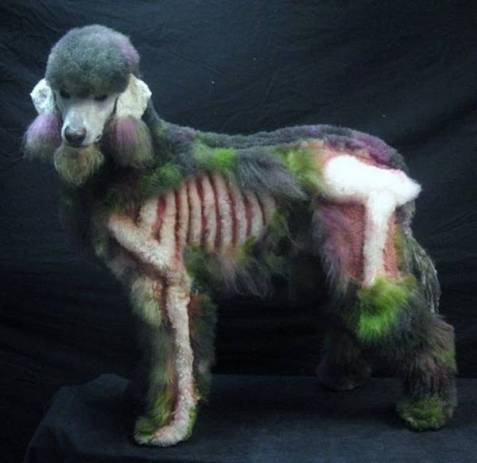 awesome zombie poodle